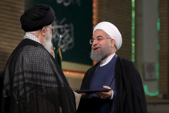 Le Guide suprême de l'Iran, Ali Khameneï et... (AP)