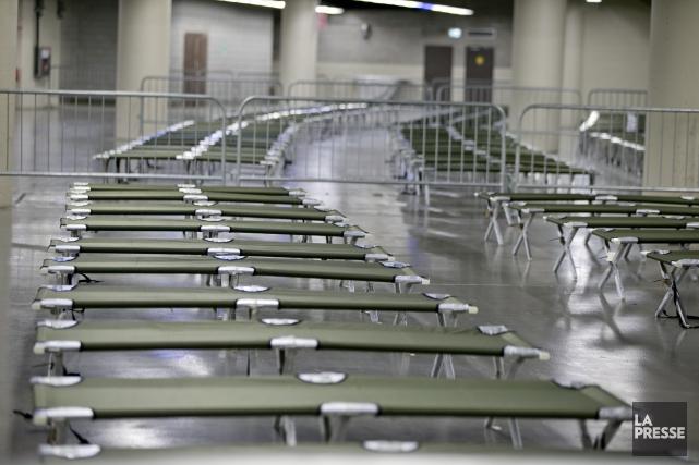 D'ici septembre, jusqu'à 600nouveaux arrivants dormiront sur les... (La Presse, David Boily)
