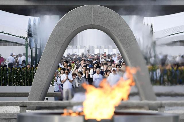 Chaque 6 août, une cérémonie à la mémoire... (Photo Ryosuke Ozawa, AP/Kyodo News)