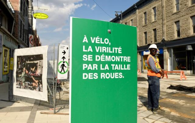 Rue Notre-Dame Ouest, entre la rue Rose-de-Lima et... (Photo Bernard Brault, La Presse)