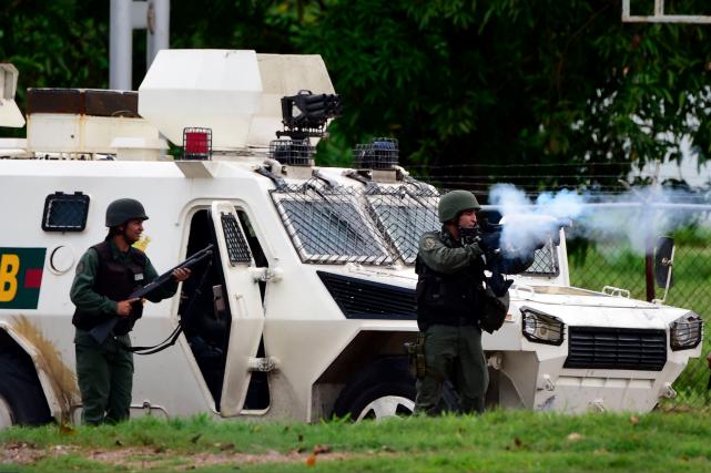 Ces incidents se sont déroulés dans une base... (AFP, Ronaldo Schemidt)
