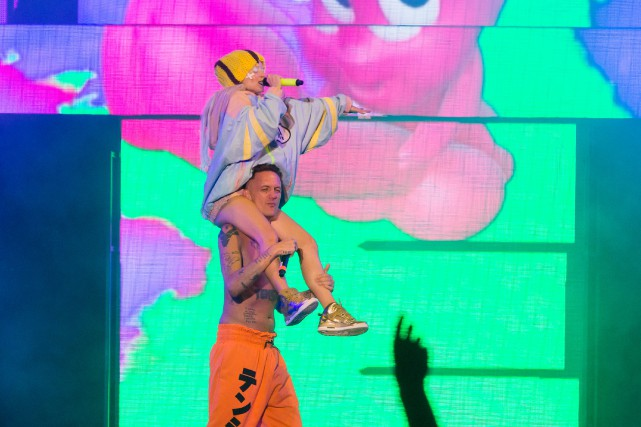 Yo-Landi Vi$$er et Ninja sur scène dimanche soir.... (PHOTO ULYSSE LEMERISE, COLLABORATION SPÉCIALE)