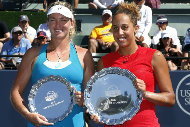 Coco Vandeweghe et Madison Keys... (Photo Tony Avelar, archives Associated Press)