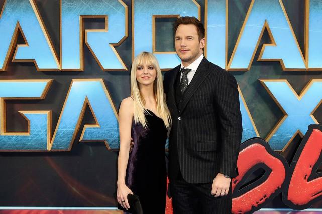 Anna Faris et Chris Pratt posent pour les... (PHOTO VIANNEY LE CAER, ARCHIVES AP/INVISION)