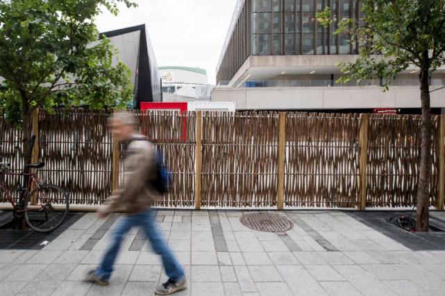 Des clôtures de saule comme celles-ci ont été... (Photo Marco Campanozzi, La Presse)