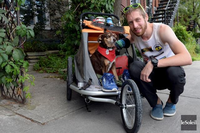 Pour joindre Montréal, le jeune coureur a choisi... (Le Soleil, Erick Labbé)