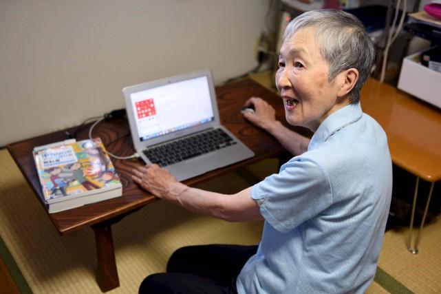Masako Wakamiya est la créatrice du programme ludique... (AFP, Kazuhiro Nogi)