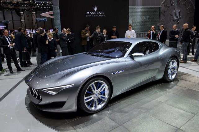 Le concept Maserati Alfieri.... (Photo Fabrice Coffrini, archives Agence France-Presse)