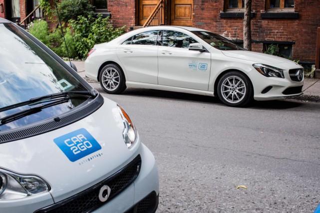 Car2Go ajoutera une centaine de Mercedes-Benz à son... (Photo Edouard Plante-Fréchette, La Presse)