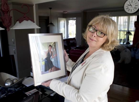 Lise Lebel montre ici sa fille Katherine, tuée... (Sylvain Mayer)