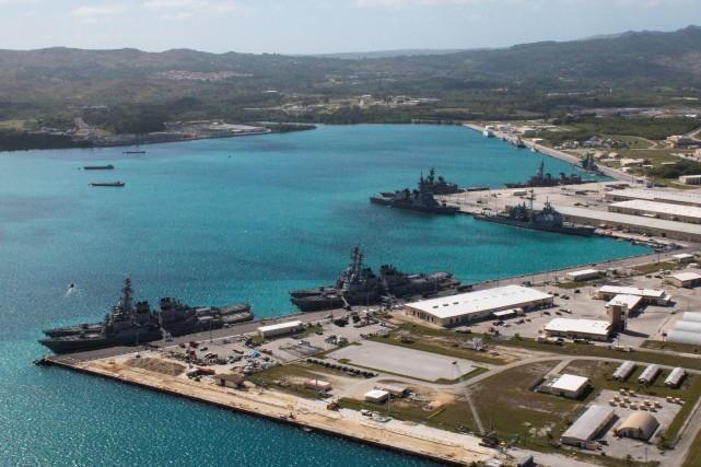 Les bases américaines de l'île de Guam.... (Photo archives REUTERS)