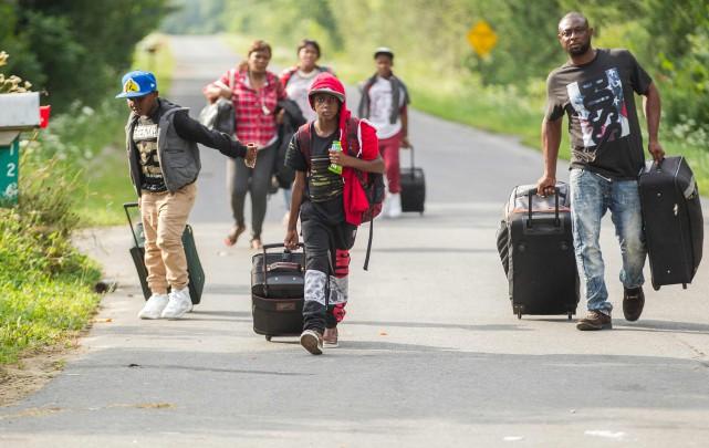 L'arrivée massive de demandeurs du statut de réfugié... (AFP)
