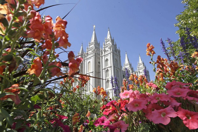 Le siège de l'Église mormone se trouve à... (ARCHIVES AP)