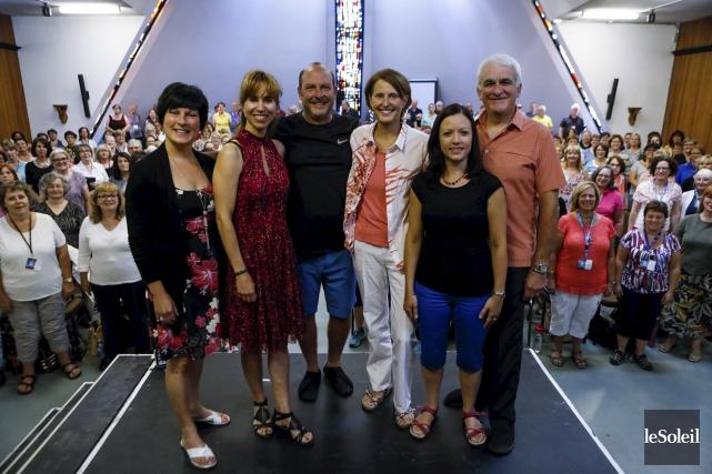 Annick Bédard, Maryse Cayouette, le directeur musical Stéphane... (Le Soleil, Caroline Grégoire)