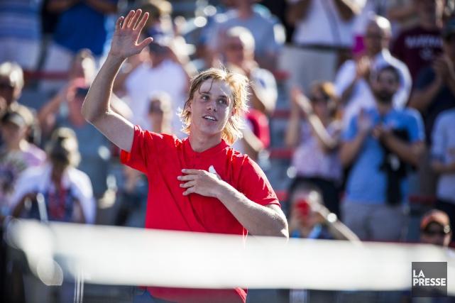 Victorieux, Denis Shapovalov a maintenant rendez-vous avec l'Argentin... (PHOTO OLIVIER PONTBRIAND, LA PRESSE)