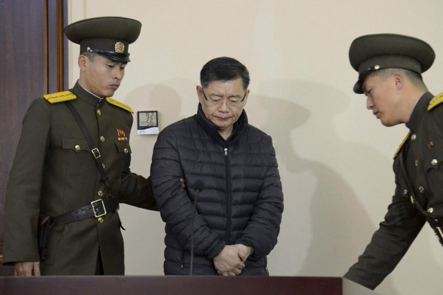 Le pasteur canadien Hyeon Soo Lim avait comparu... (AFP)