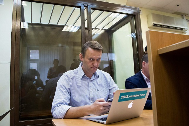 Alexeï Navalny compte briguer la présidence en 2018 même... (PHOTO IVAN SEKRETAREV, ASSOCIATED PRESS)
