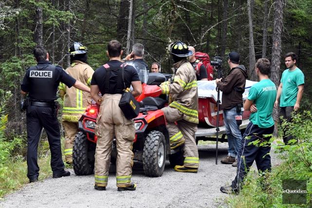 Les policiers de Saguenay ont retrouvé un homme... (Photo Le Quotidien, Rocket Lavoie)