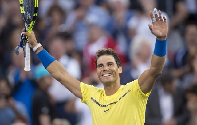 Nadal, le favori du tournoi, a amorcé sa... (La Presse canadienne, Paul Chiasson)