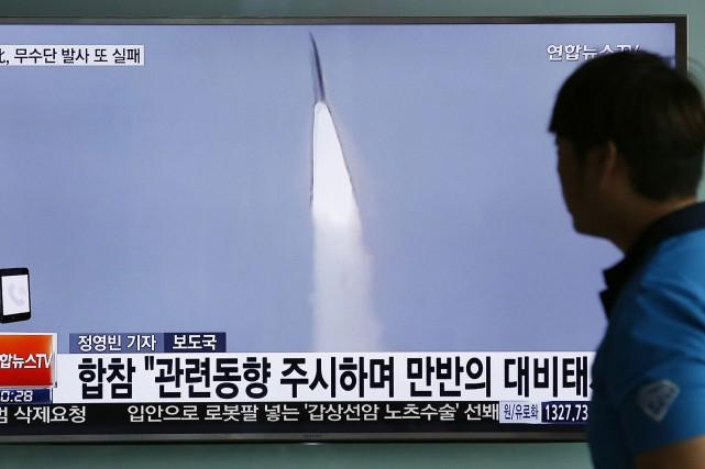 Selon l'agence officielle nord-coréenne, l'armée nord-coréenne aura achevé... (Photo Lee Jin-man, AP)
