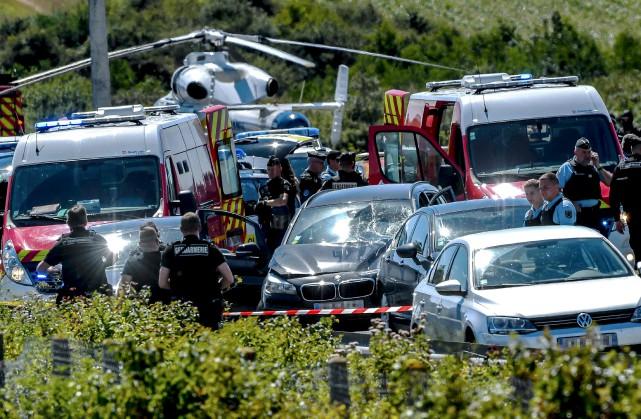 Le suspect, un Algérien de 36 ans, a... (AFP, Philippe Huguen)