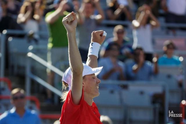 Denis Shapovalov a remporté ses deux premiers matchs... (PHOTO OLIVIER JEAN, LA PRESSE)