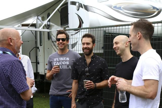 Les membres du groupe Simple Plan ont tenu... (Audrey Tremblay)