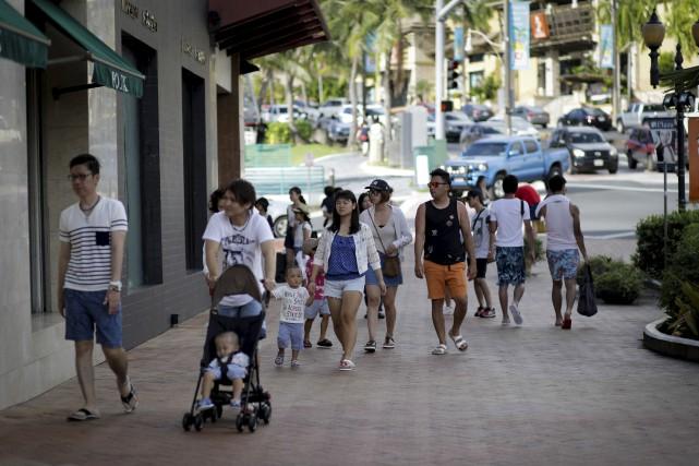 Guam, petite île menacée de frappe par la... (AFP, Robert Tenorio)