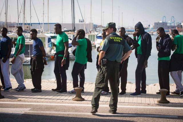 8183 migrants seraient arrivée en Espagne par mer... (Archives AFP, Marcos Moreno)