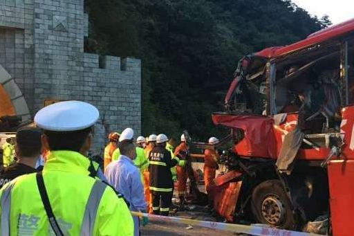 L'accident s'est produit sur une autoroute de la... (Photo tirée de Twitter)