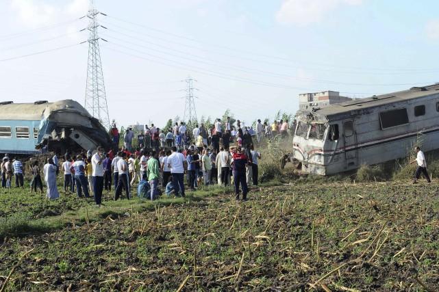 Une collision entre deux trains s'est produite dans... (AFP)