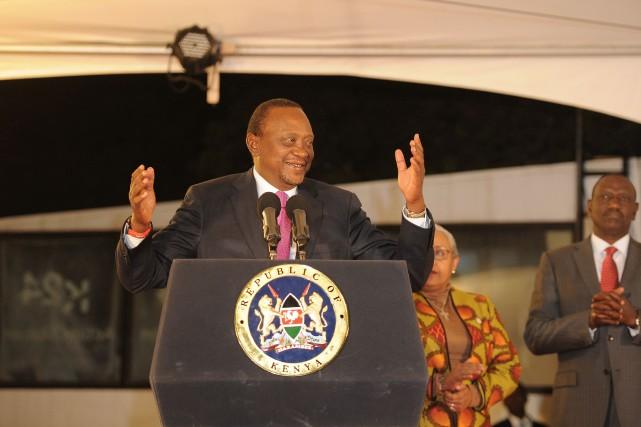 Le président kényan Uhuru Kenyatta... (PHOTO  JOHN MUCHUCHA, AFP)