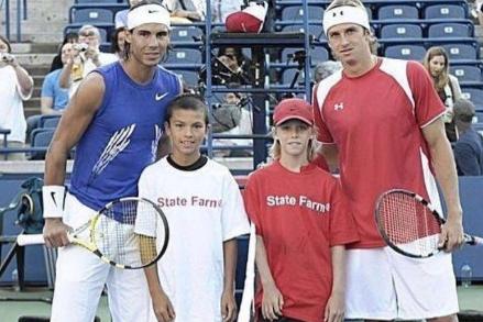 À la Coupe Rogers en 2008, Rafael Nadal... (Tirée de Twitter)