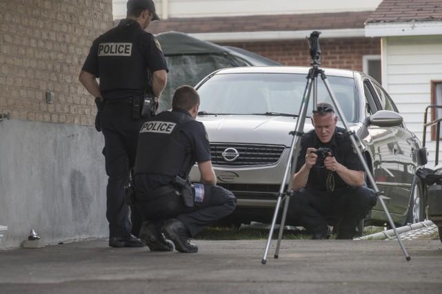Les policiers de la Sécurité publique de Trois-Rivières... (Stéphane Lessard)