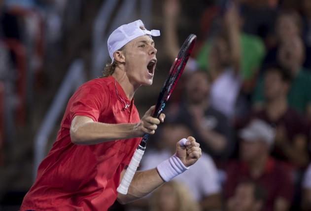 Denis Shapovalov accède aux demi-finales de la Coupe... (La Presse canadienne, Paul Chiasson)