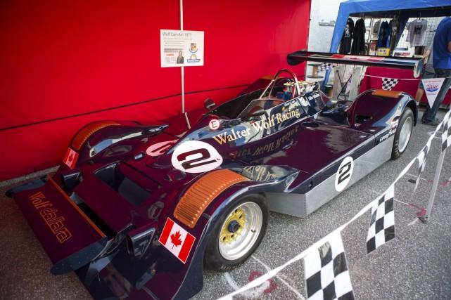 Une Dallara de l'écurie Wolf Racing est exposée... (Olivier Croteau)