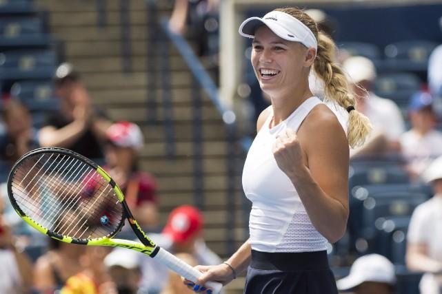 La Danoise Caroline Wozniacki a facilement défait l'Américaine... (La Presse canadienne, Nathan Denette)