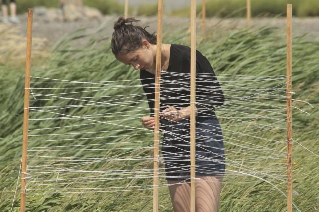 L'installationPoser le temps sur l'horizond'Anouk Verviers à La... (Pilar Macias)