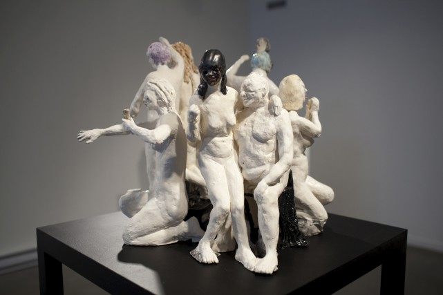 Élise Provencher, Guerrières (Happy Soldner), céramique (2017)...