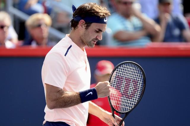 Roger Federer a défait Robin Haase en demi-finale,... (La Presse canadienne, Paul Chiasson)