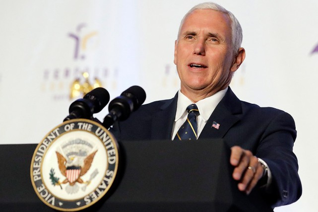 Le vice-président Pence doit s'arrêter en Colombie, en Argentine,... (PHOTO DARRON CUMMINGS, ASSOCIATED PRESS)