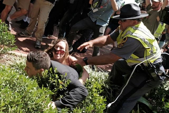 Jason Kessler, un organisateur du rallye d'extrême-droite organisé... (PHOTO REUTERS)