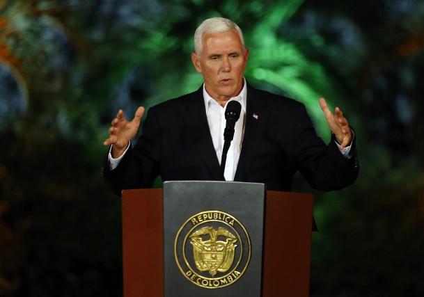 Mike Pence a livré dimanche soir une conférence... (PHOTO AP)