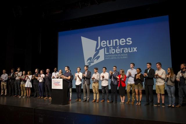Les jeunes libéraux ont conclu leur congrès dimanche,... (La Tribune, Stéphanie Vallières)