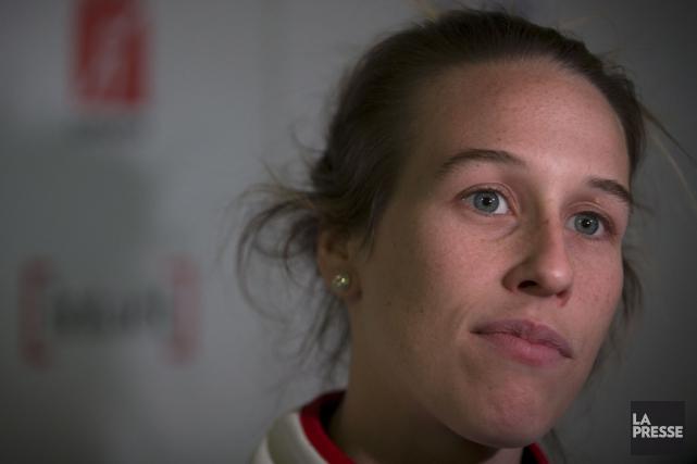 Marianne St-Gelaisa chuté lors d'un entraînement, à la... (Photo La Presse, Olivier Jean)