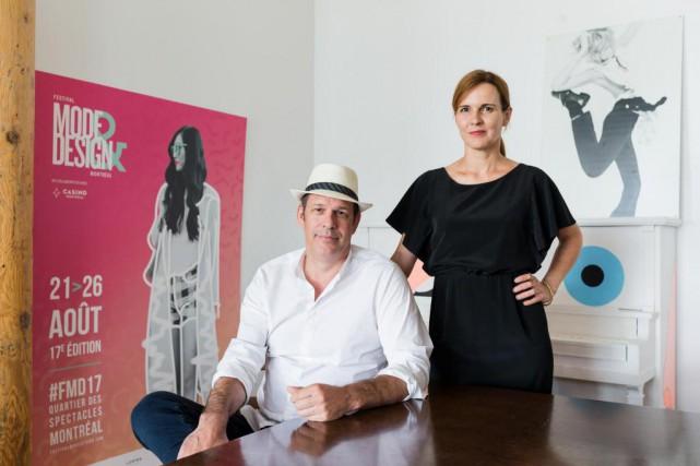 Jean-François Daviau etChantal Durivage, organisateurs du Festival Mode&Design... (Photo Edouard Plante-Fréchette, La Presse)