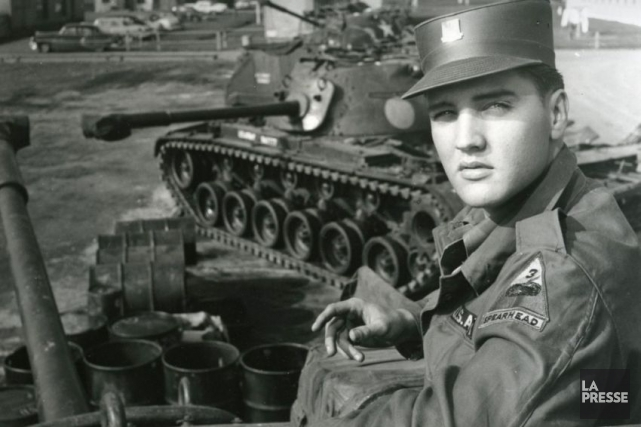 Le 20 janvier 1958, Elvis Presley débute son service... (PHOTO ARCHIVES LA PRESSE)