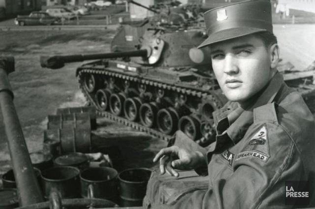 Le 20 janvier 1958, Elvis Presley débute sonservice... (PHOTO ARCHIVES LA PRESSE)