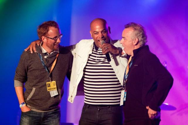 Frédérick Ste-Croix, Philippe Fehmiu et Stéphane Brochu, respectivement... (Photo fournie par le festival Musique du bout du monde)