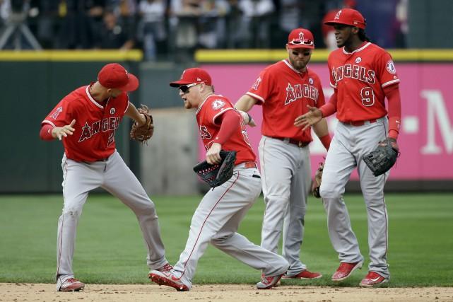 Les Angels de Los Angeles ont remporté six... (Photo Elaine Thompson, AP)